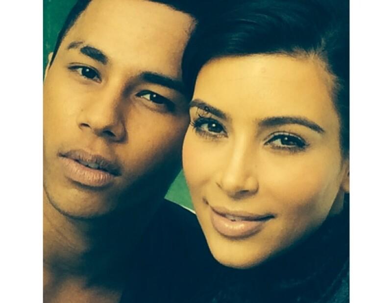 Kim y Olivier compartieron algunas fotos en Instagram. Él podría estar detrás de uno de los vestidos de la empresaria.