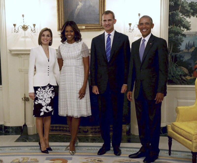 La reina de España hoy celebra su aniversario 43, y aprovechó su gira por Estados Unidos para festejarlo en la Casa Blanca.