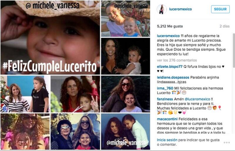 El cariño de los fans no pasó desapercibido en un día tan especial para la hija menor de Lucero.