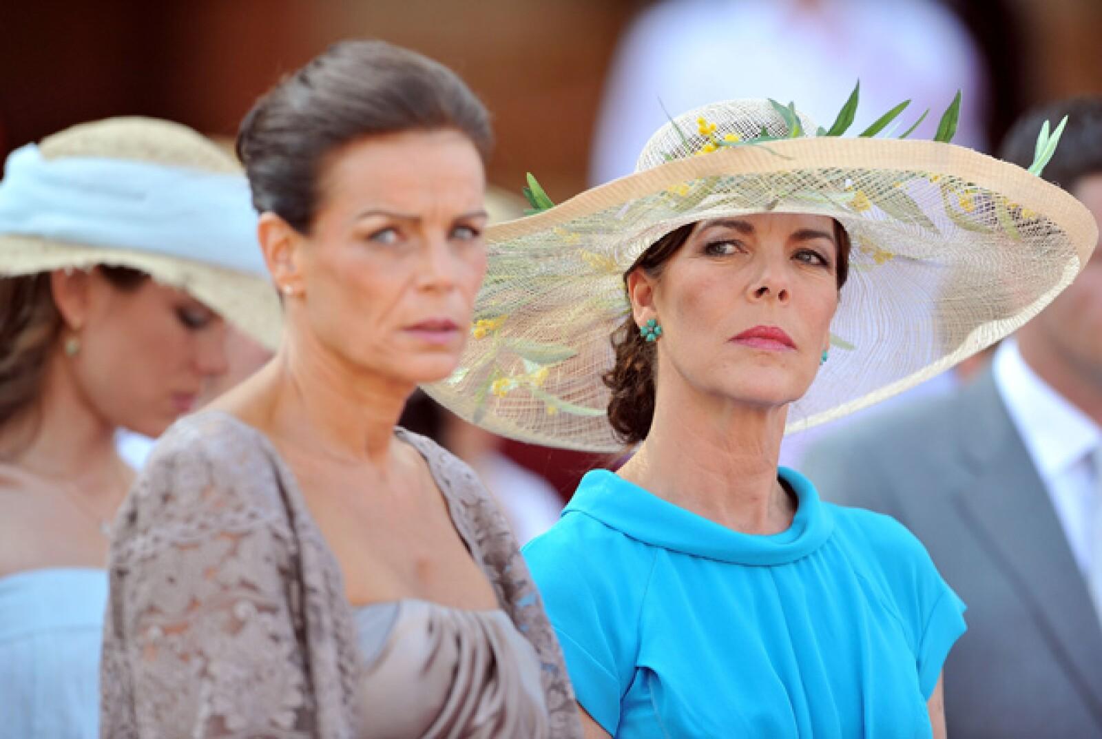 Las princesas Estafanía y Carolina de Mónaco.