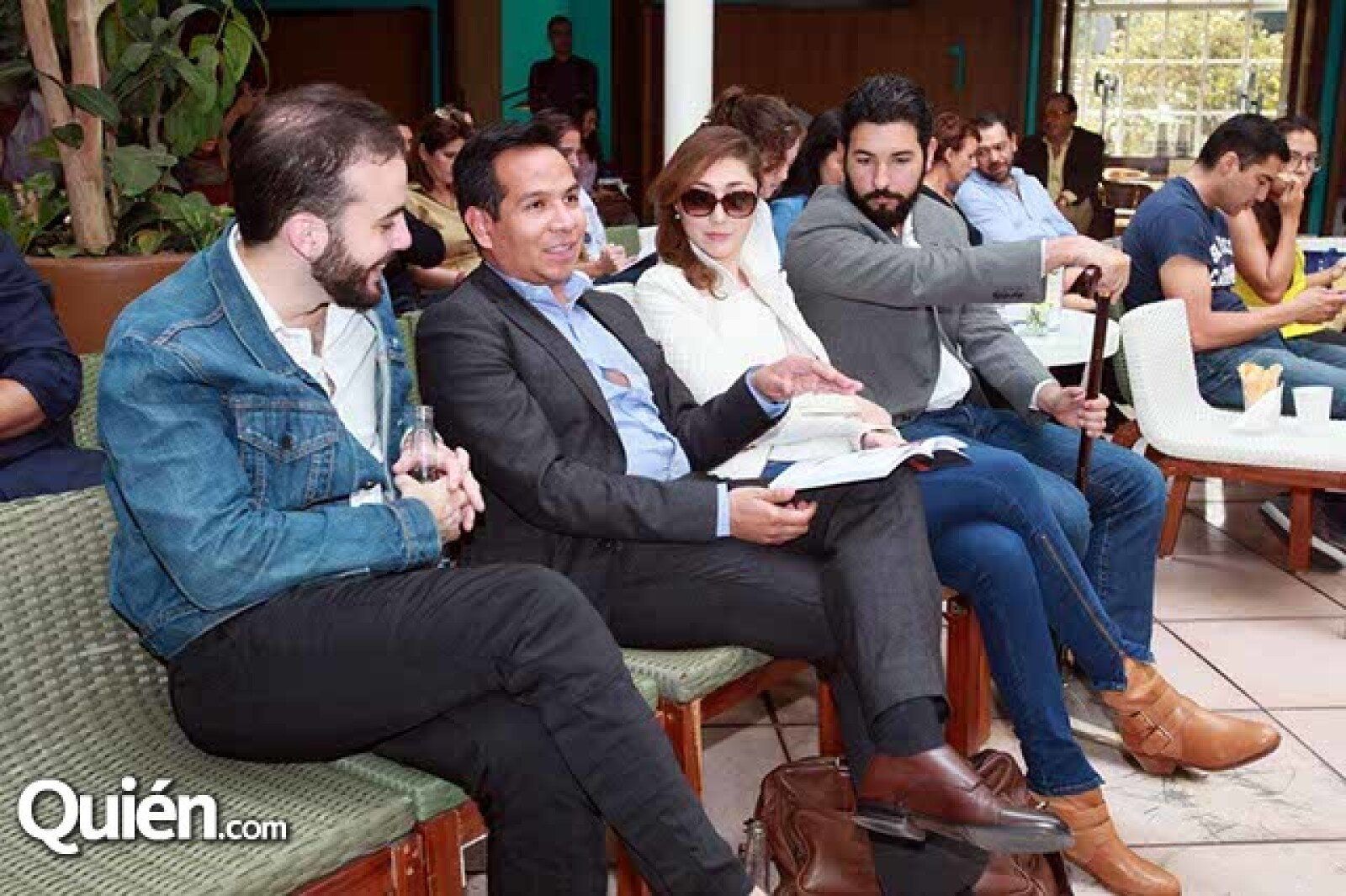 Marco Villa,Francisco Díaz,Zaira Marino y Francisco Zubia
