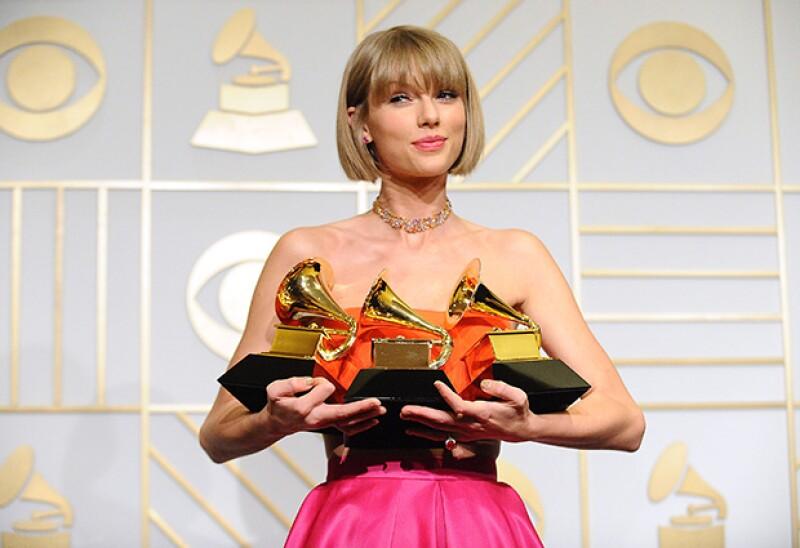 Taylor fue una de las grandes triunfadoras de la noche.