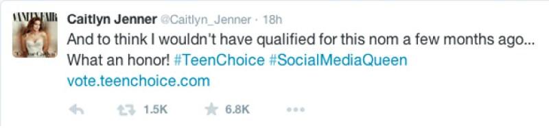 El tuit con el que anunció su nominación.