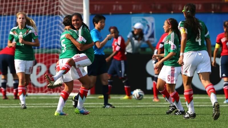 El Tri femenil Sub-17 logró una goleada ante Colombia