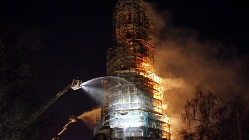 Incendio en monasterio ruso