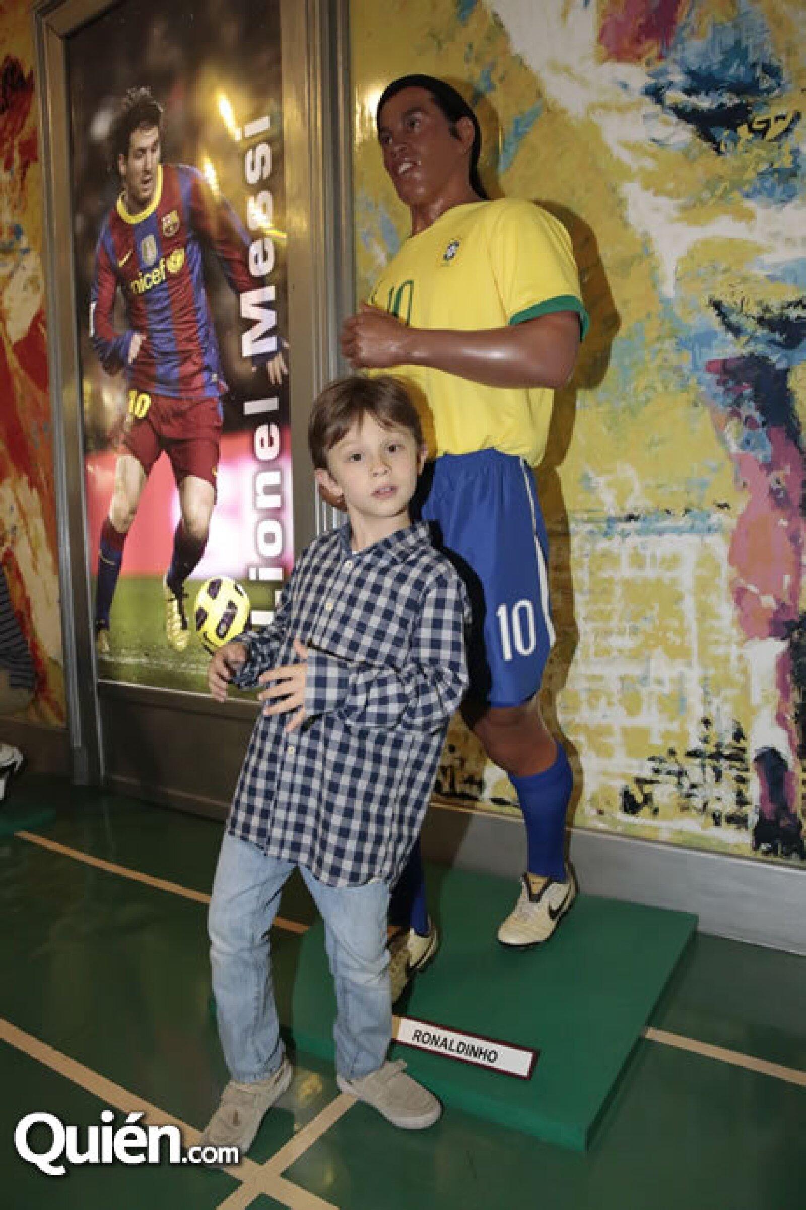 Daniel Alemán, figura de Ronaldinho