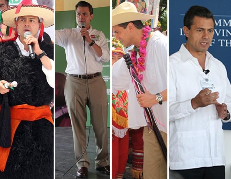 Josefina Vazquez Mota también ha integrado elementos mexicanos a sus atuendos.