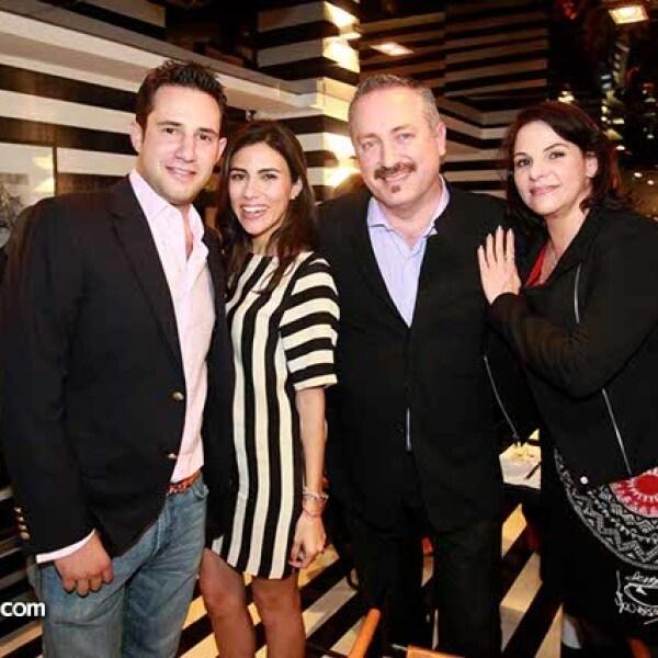 Said Mena,Luly Uribe,Paulo Rojas e Iliana Fernández