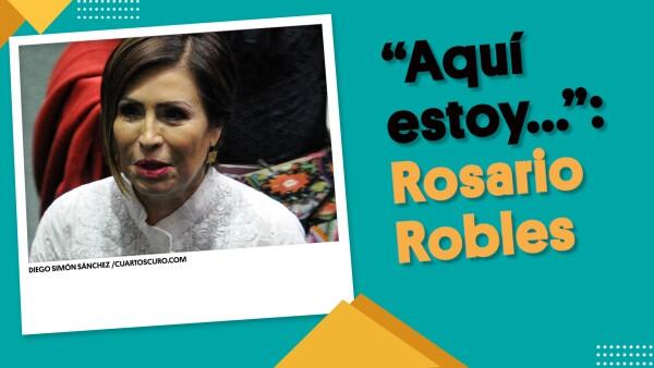 """""""Aquí estoy, como lo prometí, dando la cara"""": Rosario Robles ⏩ #EnSegundos"""