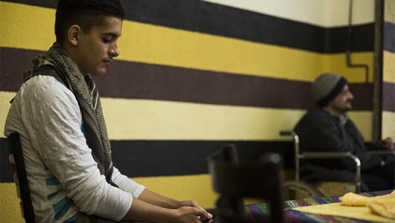 Ahmad es quien habla mejor español, luego de dos años de que la familia de Said Taleb llegó a México.