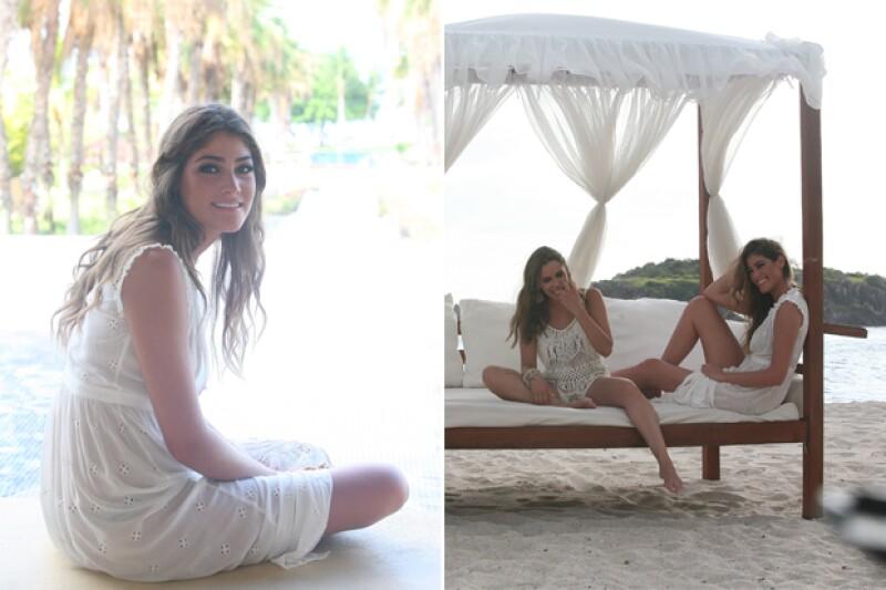 Izquierda, Alexandra Burillo. Derecha, Bárbara Ruesga y Alexandra Burillo.