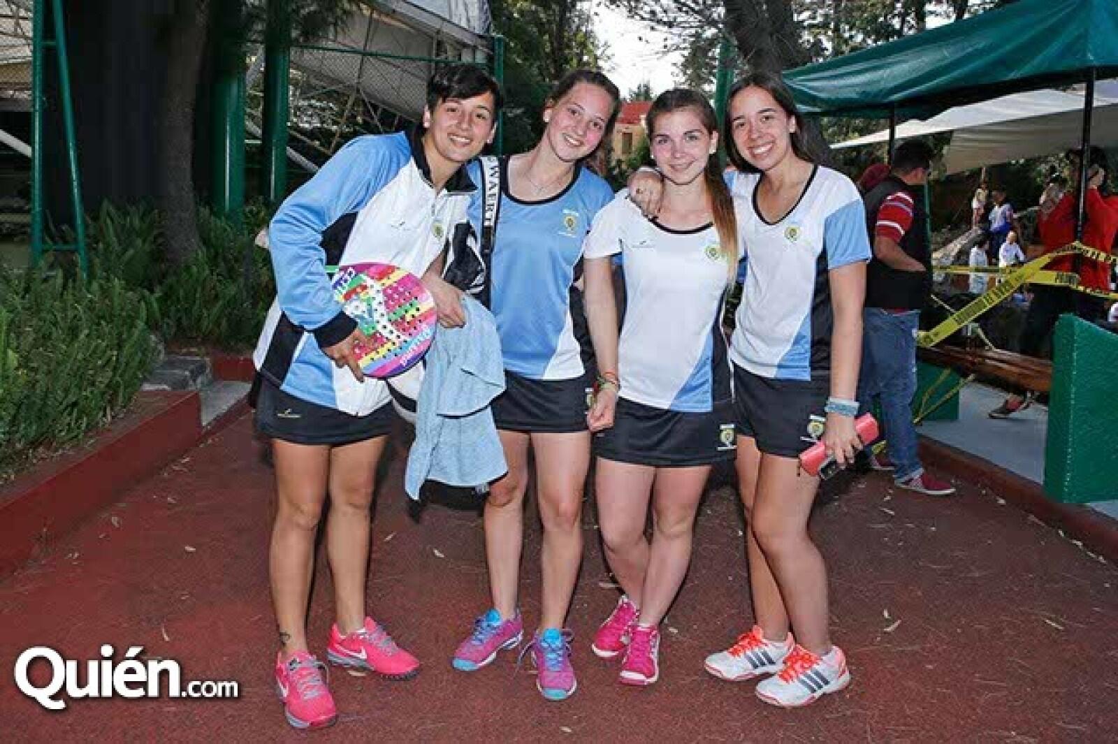 Mari Montesi,Rafaela Forastiero,Brenda Bianchi y Belén Jubete