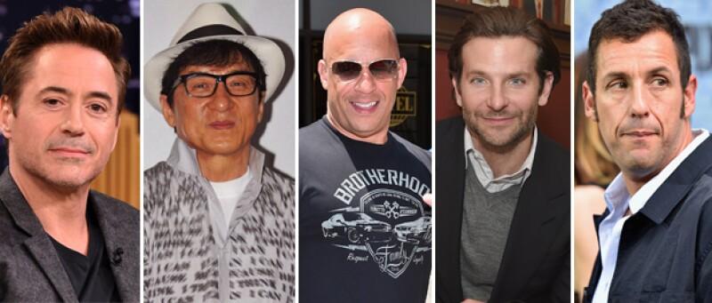 Forbes acaba de publicar su lista anual y en el top 10 se encuentran Robert Downey Jr., Vin Diesel, Adam Sandler y para sorpresa de muchos, tres actores de Bollywood.