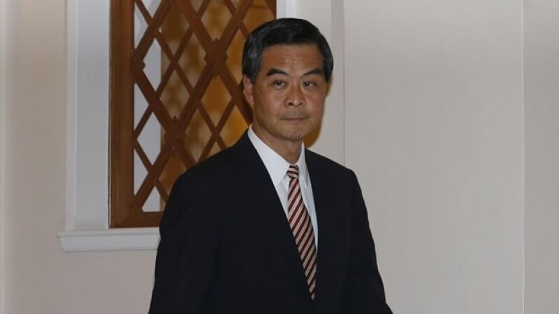 C. Y. Leung jefe gobierno Hong Kong
