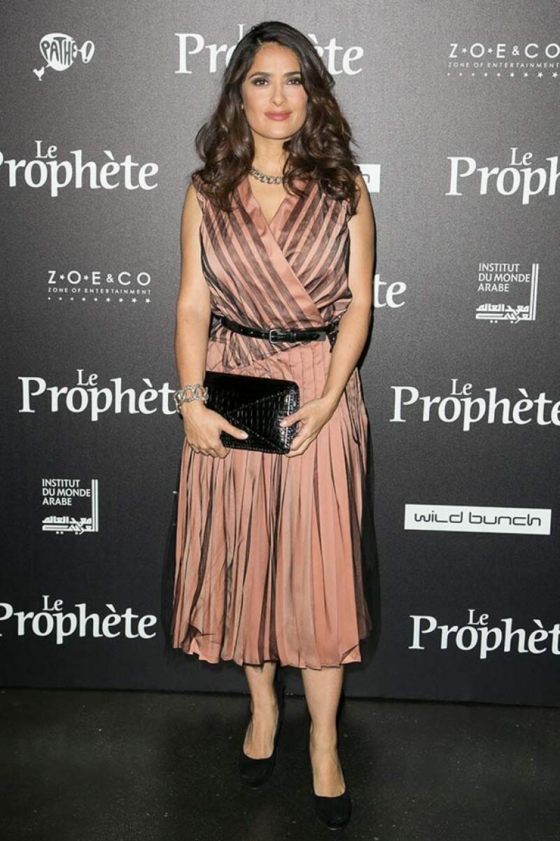 """La actriz se encuentra de gira para promocionar su nueva película """"El Profeta"""" y en esta ocasión fue acompañada por su esposo en Francia."""
