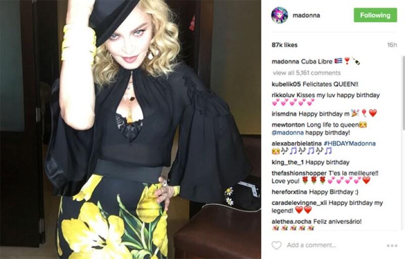 Madonna cumple este 16 de agosto 58 años.
