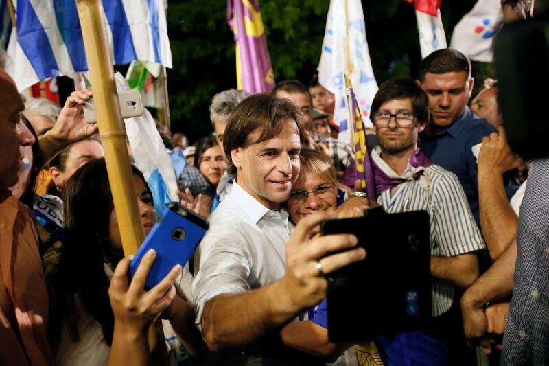 Campaign rally of National Party presidential candidate Luis Lacalle Pou in Maldonado