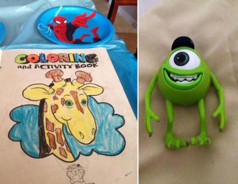 El primogénito de la actriz cumplió siete años, por ello, su mamá le festejó con un pastel personalizado y una piñata de Spiderman.