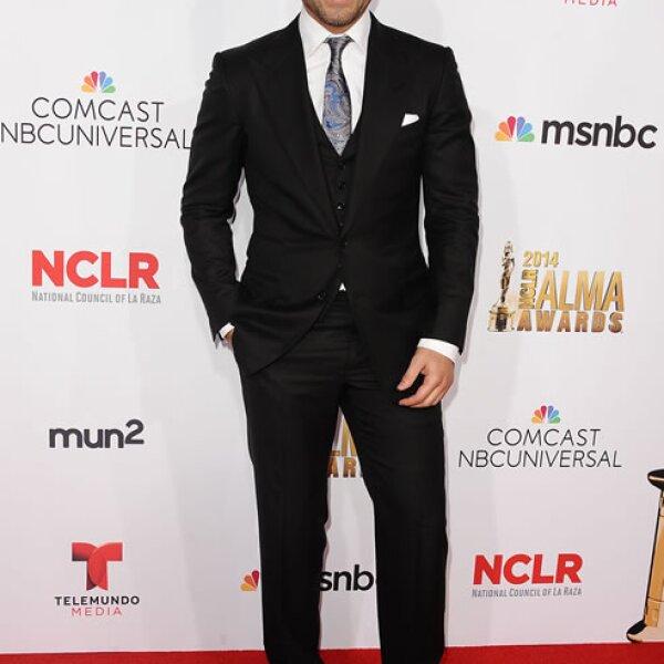 El actor mexicano Rafel Amaya también acudió a la entrega.