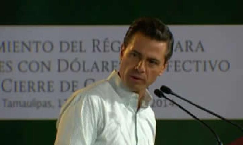 La medida busca hacer más eficiente la lucha contra el lavado de dinero sin afectar a las empresas, dijo Peña Nieto. (Foto: Tomada de @PresidenciaMX)