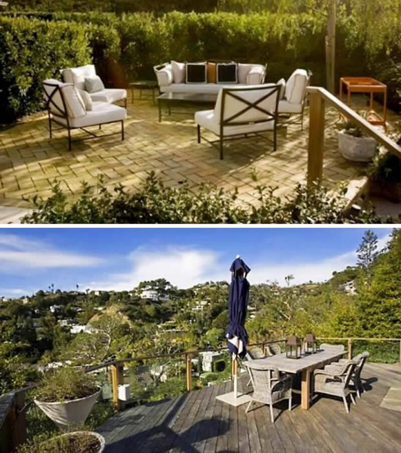Aquí las dos terrazas que tienen una excelente vista.