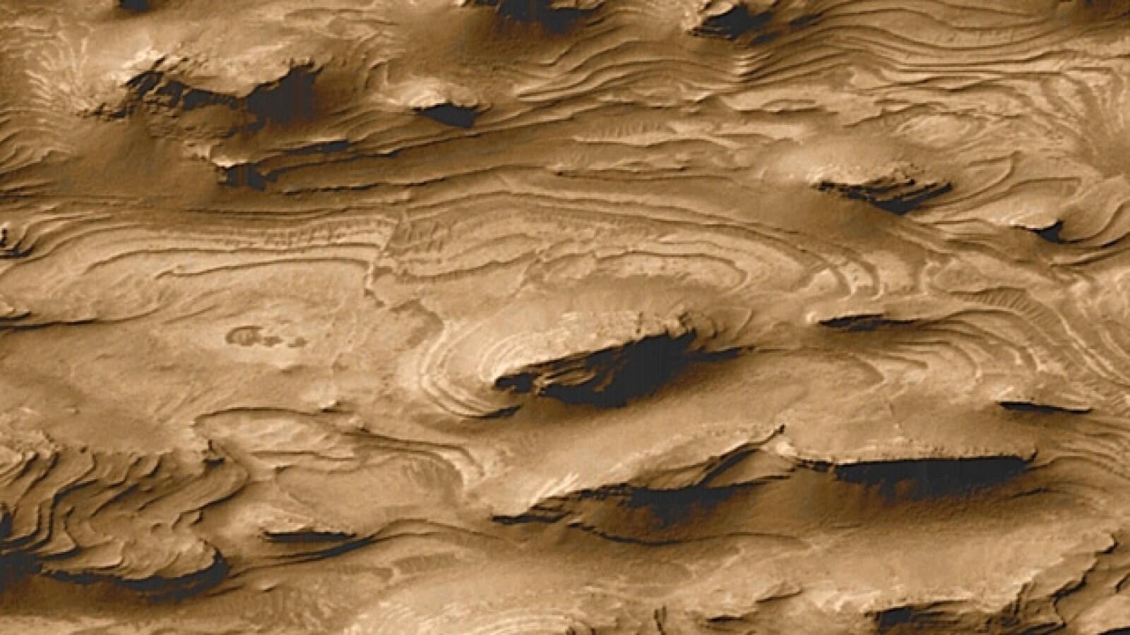 Marte Mars Mars Global Surveyor de la NASA de 2000 lago sedimento