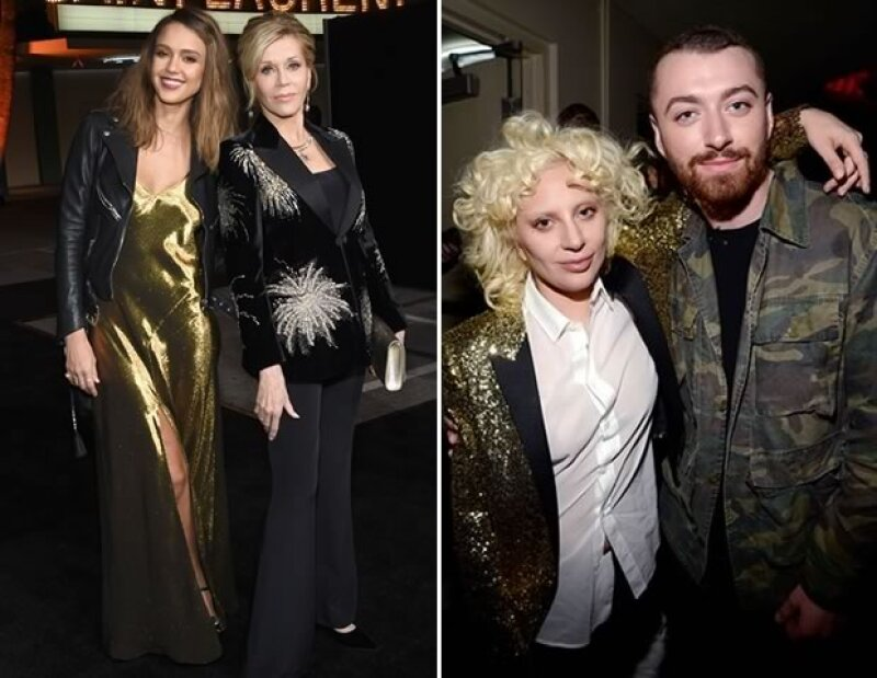 Jessica Alba, Jane Fonda, Lady Gaga y Stan Smith fueron algunos de los asistentes al desfile en Los Ángeles.