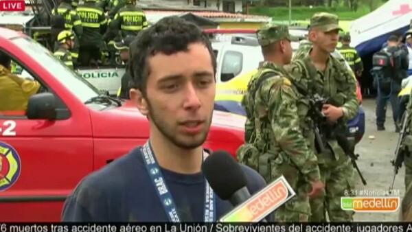 Rescatista cuenta como auxilió a sobreviviente del avionazo