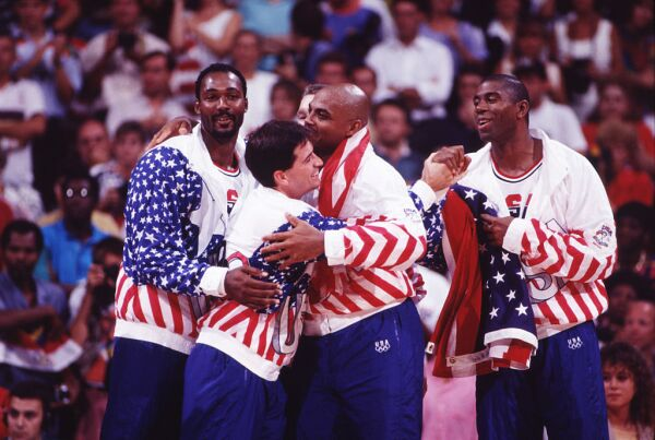 'Magic' Johnson con el 'Dream Team'