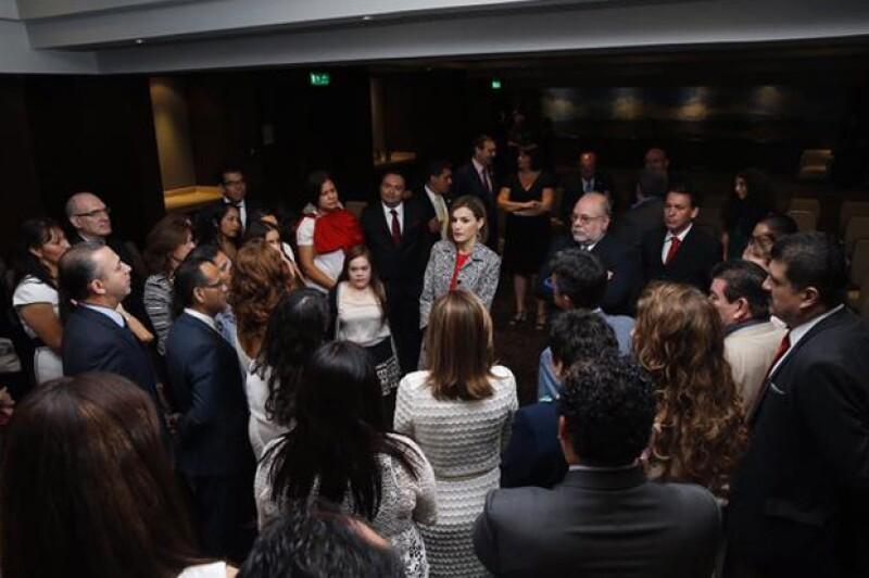 La reina de España acudió muy puntual, a las 9 de la mañana de este martes, al III Congreso Iberoamericano sobre Enfermedades Raras.