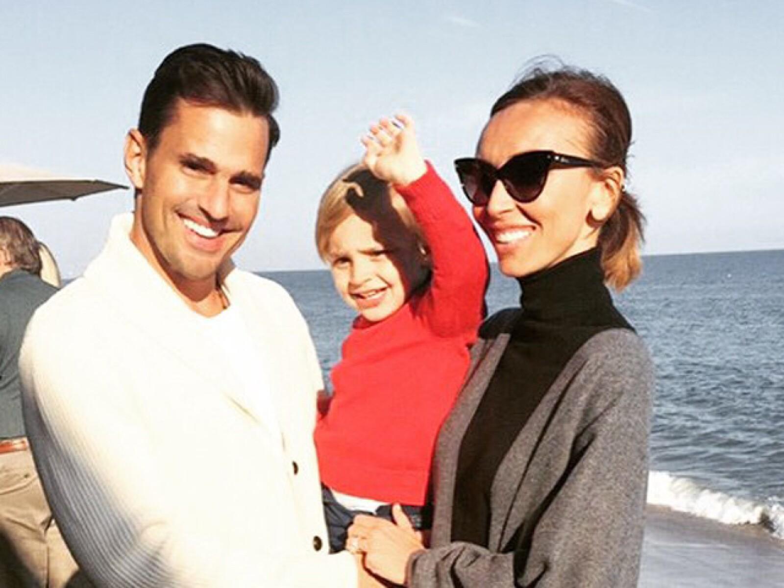 Guliana Rancic en familia con Bill y Duck