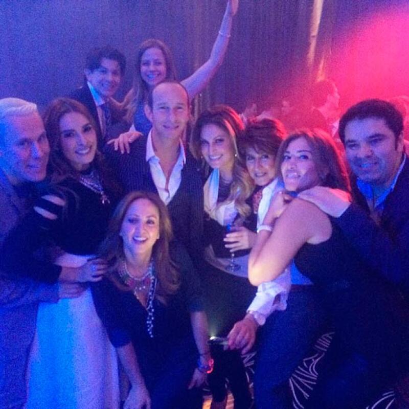 Erick Rubín, Andrea Legarreta, e Inés Gómez Mont fueron unas de las celebridades que estuvieron presentes en la fiesta.