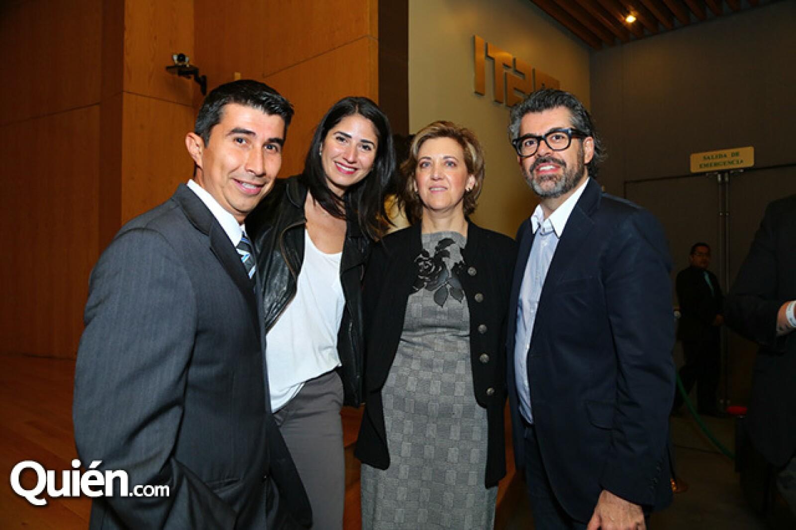 Jorge Romero, Nathalie Baaklini, Mónica Sacristán y Carlos Salcido