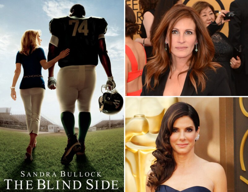 Julia Roberts rechazó el papel que interpretó Sandra Bullock en The blind side