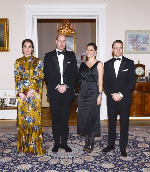 Prince William and Catherine Duchess of Cambridge visit to Sweden - 30 Jan 2018