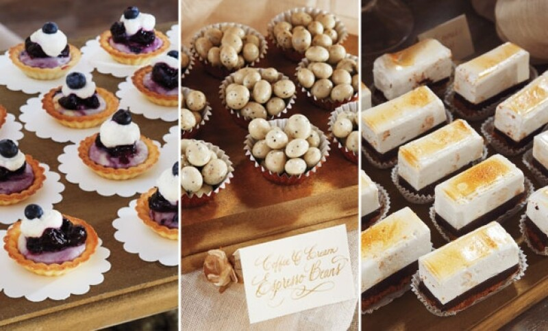 Estos fueron algunos de los postres que conforman la barra de dulces.