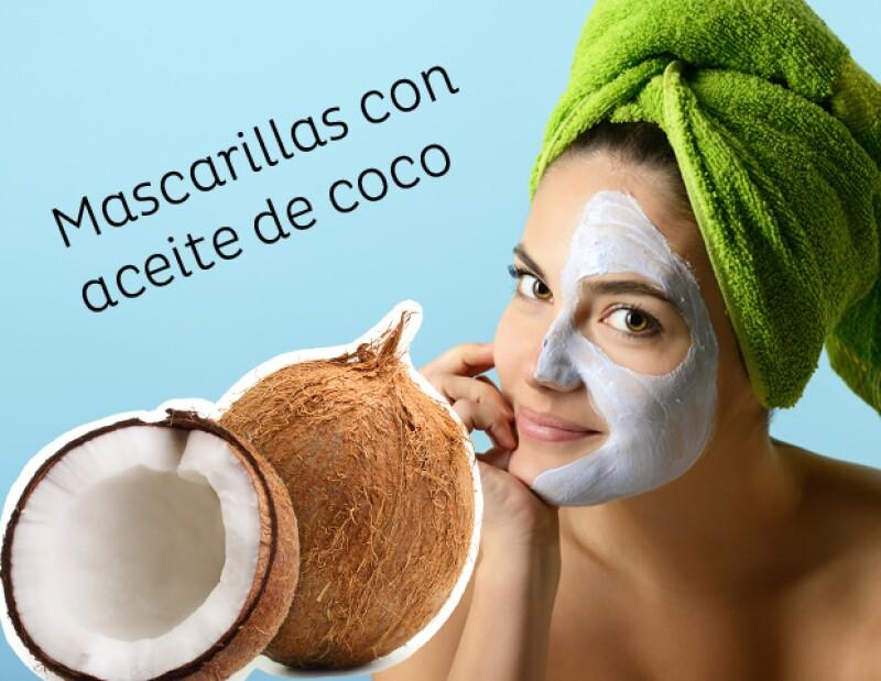 ¡Mejora la salud de tu piel con aceite de coco! Estas mascarillas le devolverán el brillo, evitarán el acné, la limpiará de maravilla y hasta evitará las arrugas.
