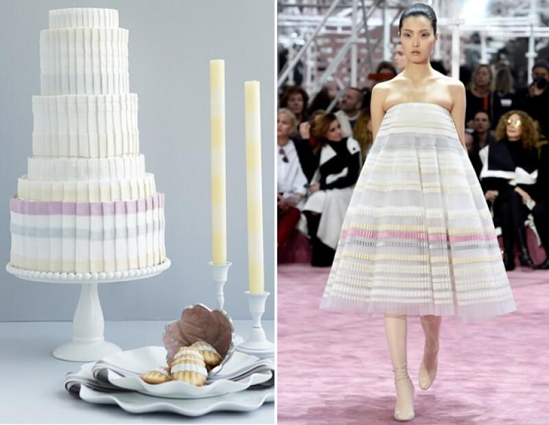 Pastel inspirado en la pasarela de Alta Costura Primavera 2015 de Christian Dior.