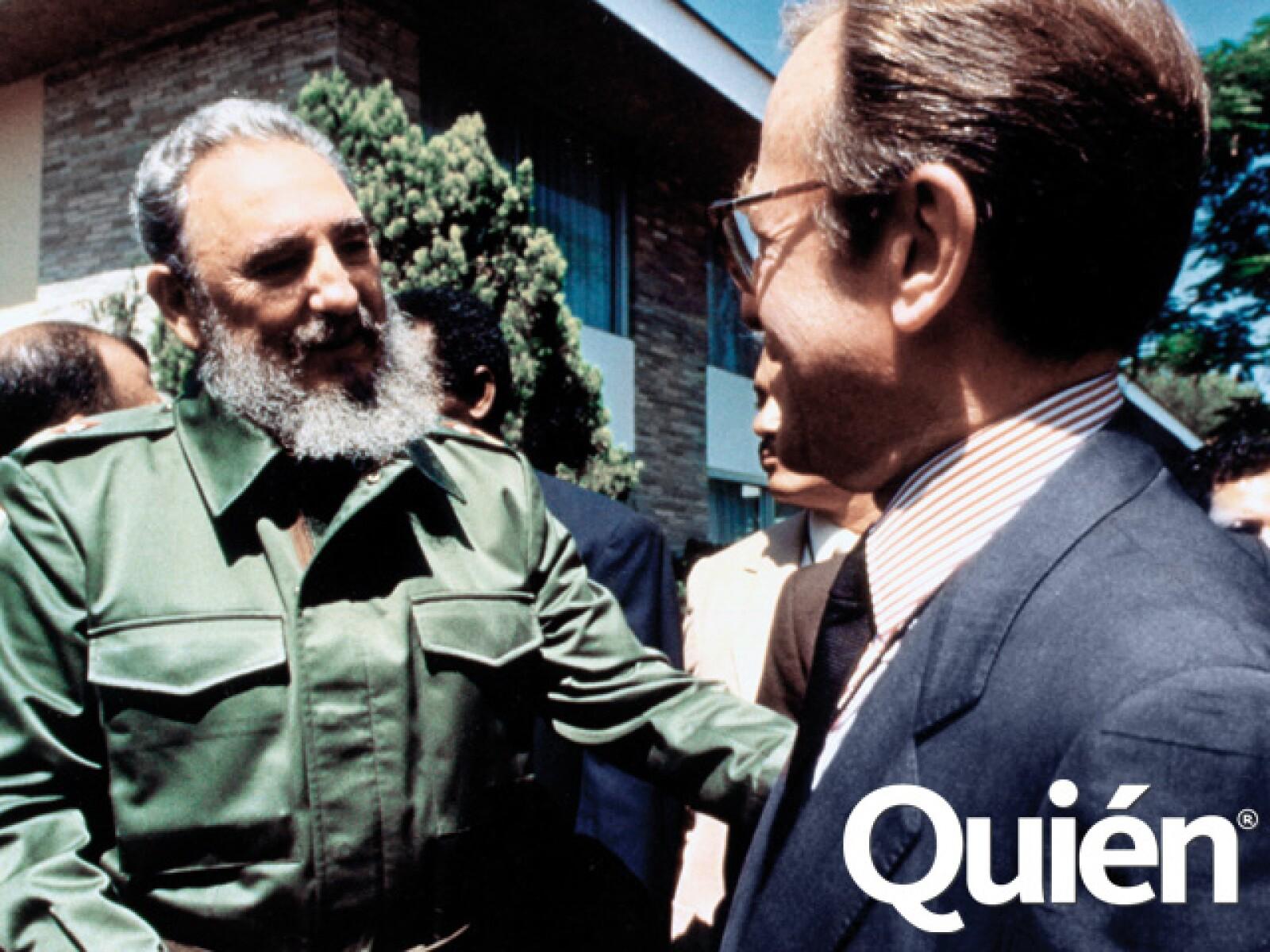 Con Fidel Castro