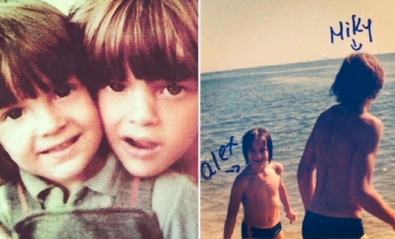 En esta foto Alex Basteri y Luis Miguel cuando eran pequeños.
