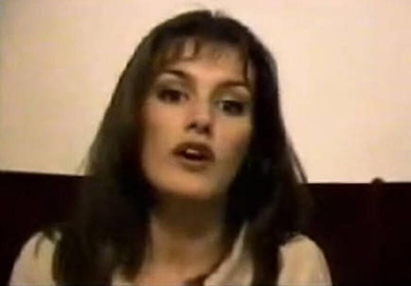 Letizia haciendo sus pininos en televisión cuando era presentadora de noticias.