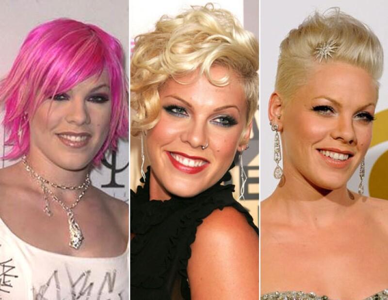 Pink ha pasado por varios cambios en su pelo.