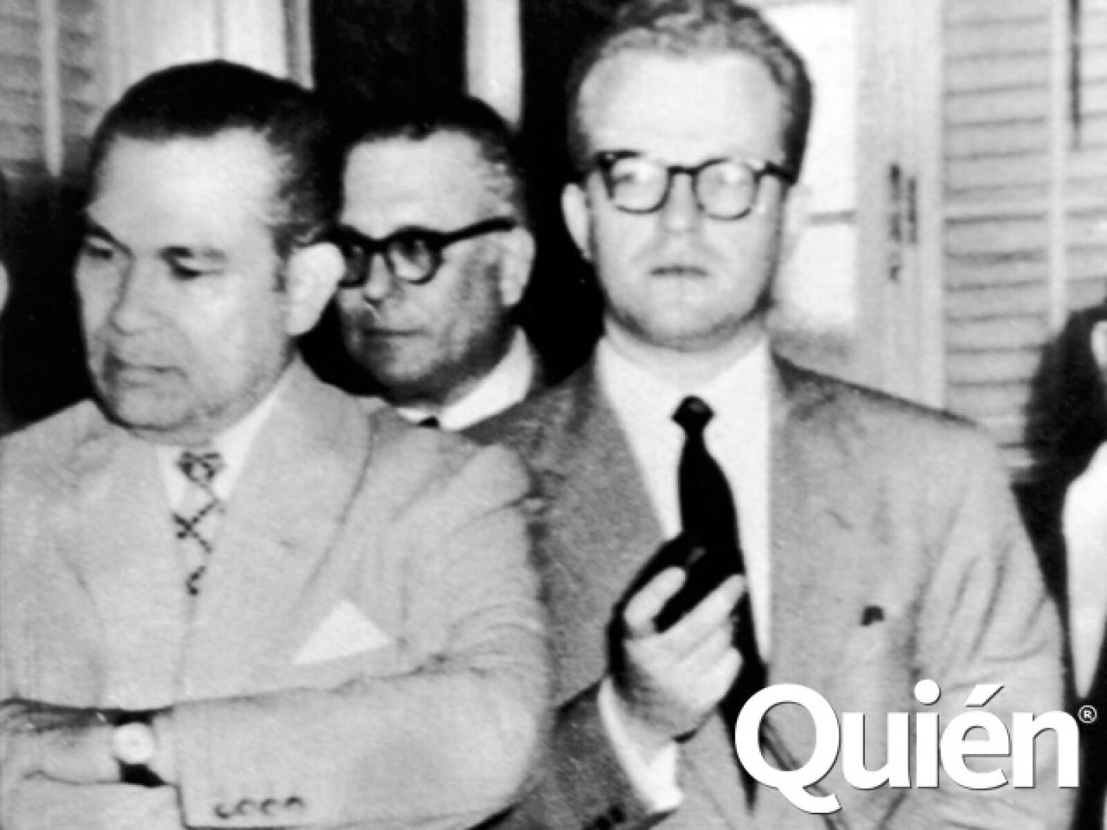 Con Fulgencio Batista cuando todavía era presidente de Cuba y antes de ser derrocado.