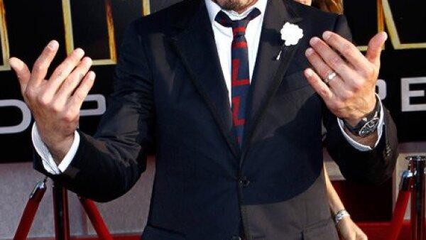 Como la estrella principal, Robert Downey Jr. acaparó gran parte de los flashes y miradas.