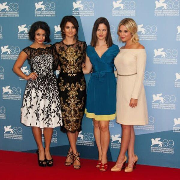 Las actrices de `Springbreakers´en un photocall de la película.