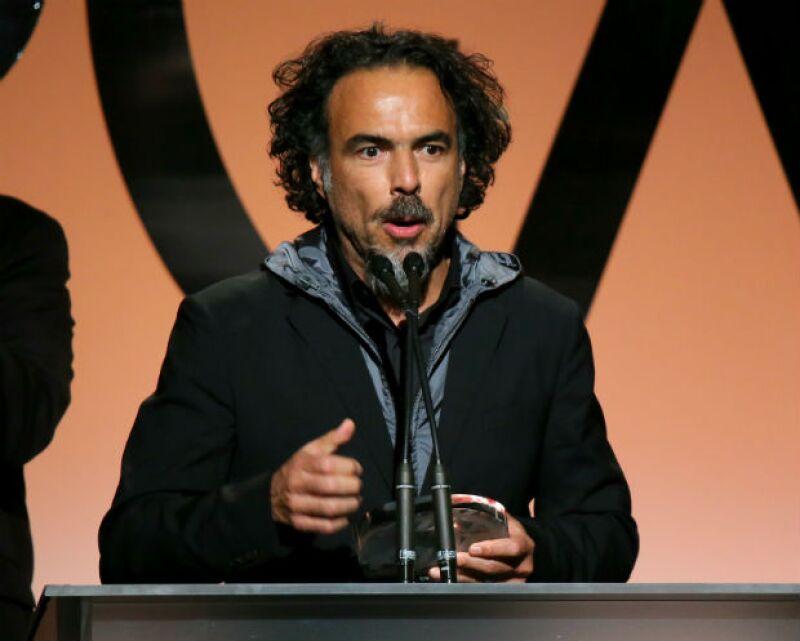 Iñárritu durante su reciente victoria en los Producers Guild Awards.