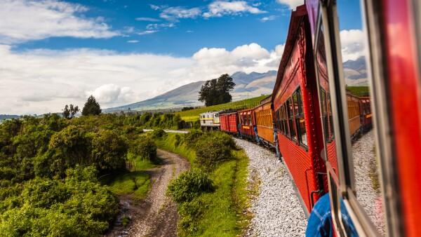 Tren en medio de la naturaleza