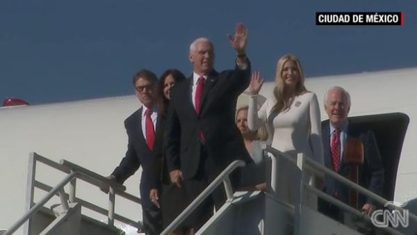La llegada de Ivanka Trump y Mike Pence a México, para la toma de posesión