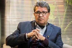 Ricardo Monreal, coordinador de la bancada de Morena en el Senado. Foto: Diego Álvarez.