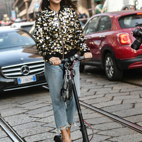 Street Style, Fall Winter 2019, Milan Fashion Week, Italy - 22 Feb 2019